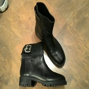 """Zara""Basis Collection Black Leather Boots SZ-"